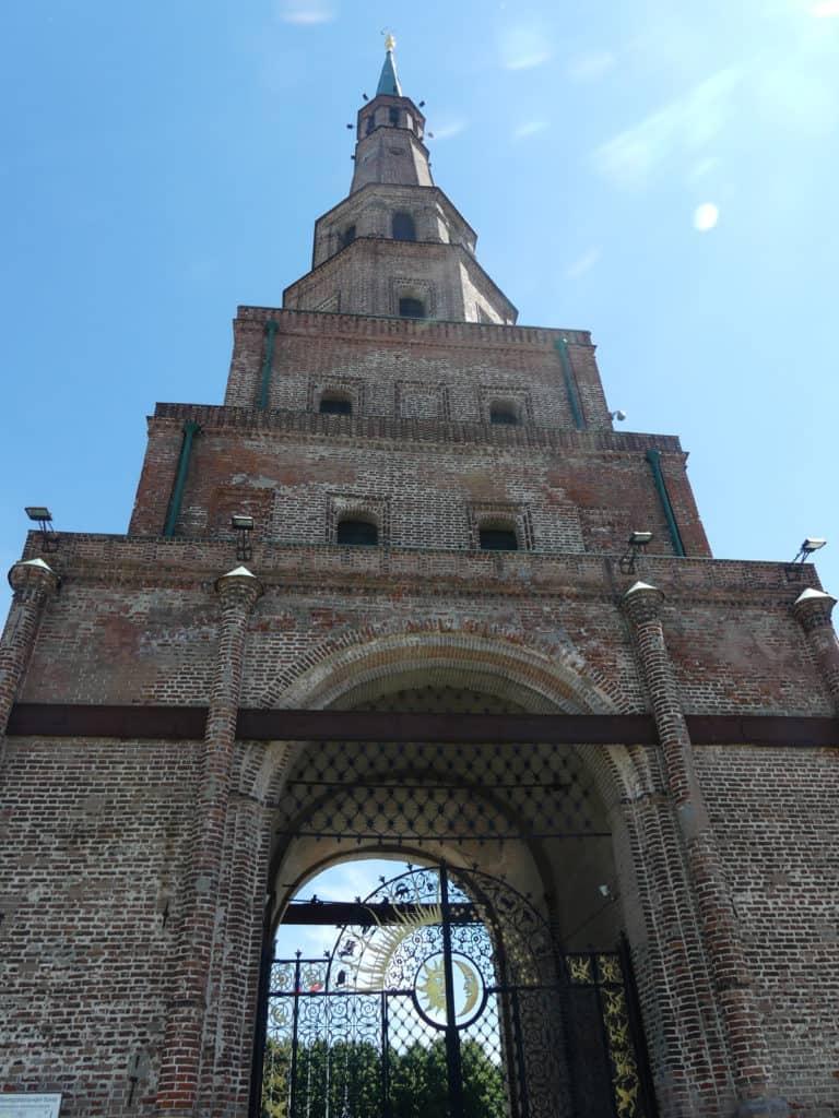 Der Sjujumbeki Turm im Kasaner Kreml
