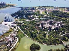 singapur Marina Bay Sands von oben