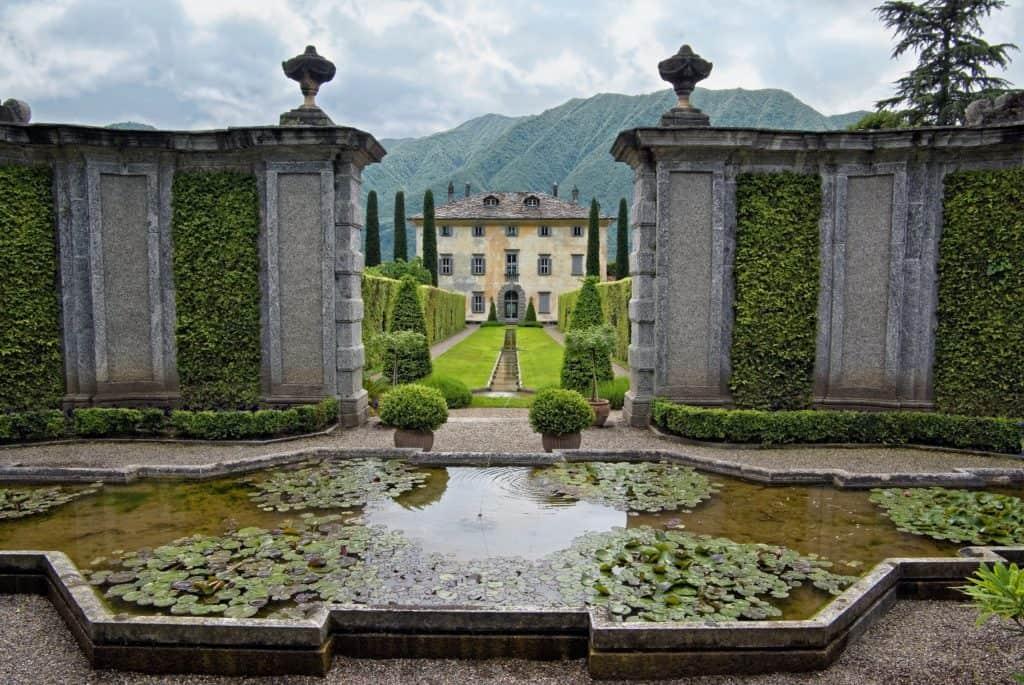 Italienischer Renaissancegarten, Symbolbild, villa balbiano, fontana, garten