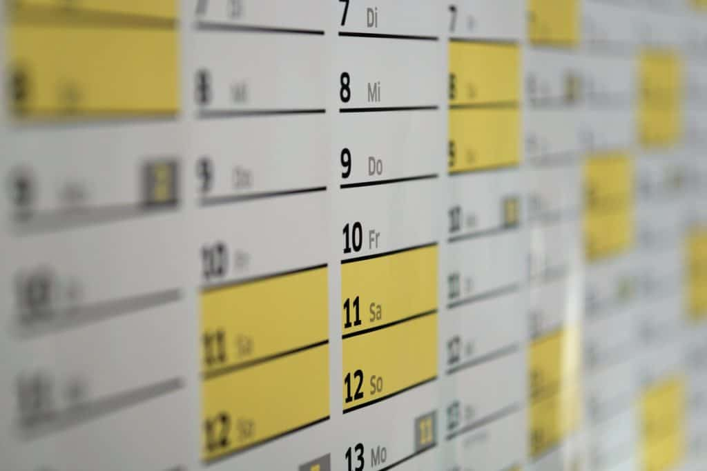 Trennungsjahr-nachweisen, kalender, wandkalender, tage