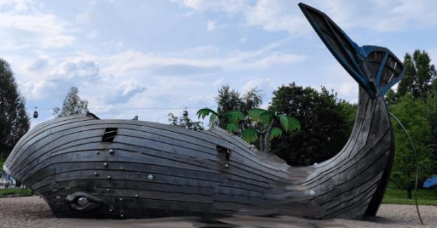 Spielplatz Gärten der Welt Wal